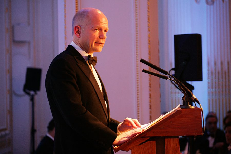 William Hague speaking at a Conservative Middle East Council (CMEC) event in July 2009 at the Mandarin Oriental Hotel, Knightsbridge, London.