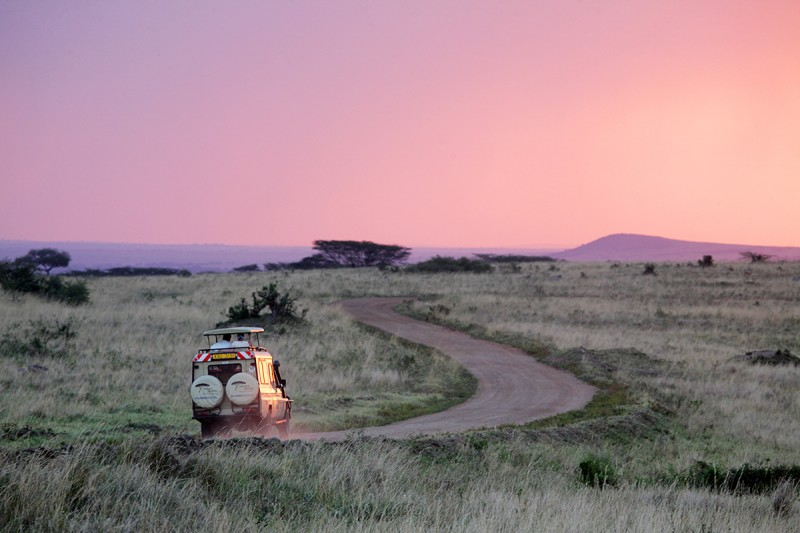 On safari in Kenya, Africa.