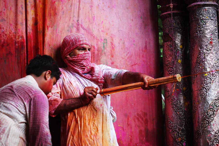 Holi Festival in Mathura and Vrindavan, India