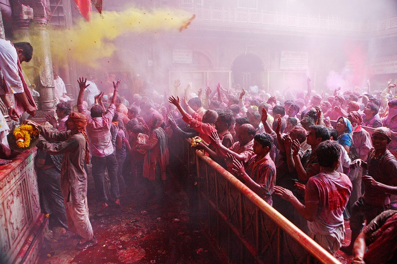 Holi Festival in Mathura and Vrindavan, India