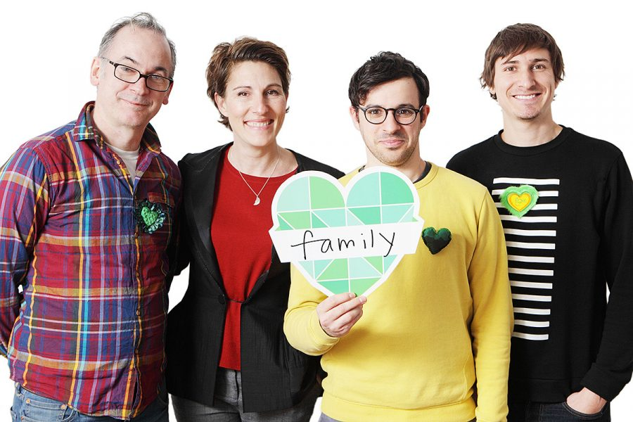 The wonderful Tamsin Greig generously agreed to have her portrait taken for the Climate Coalition's Show the Love campaign. And she kindly persuaded the rest of the cast of Friday Night Dinner – Paul Ritter, Simon Bird and Tom Rosenthal to come along too.